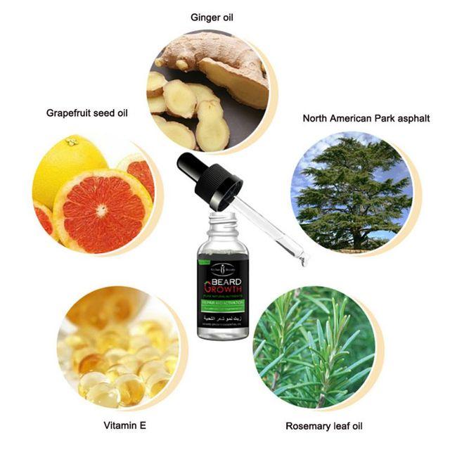 100% Natural Organic Men Growth Beard Oil 5