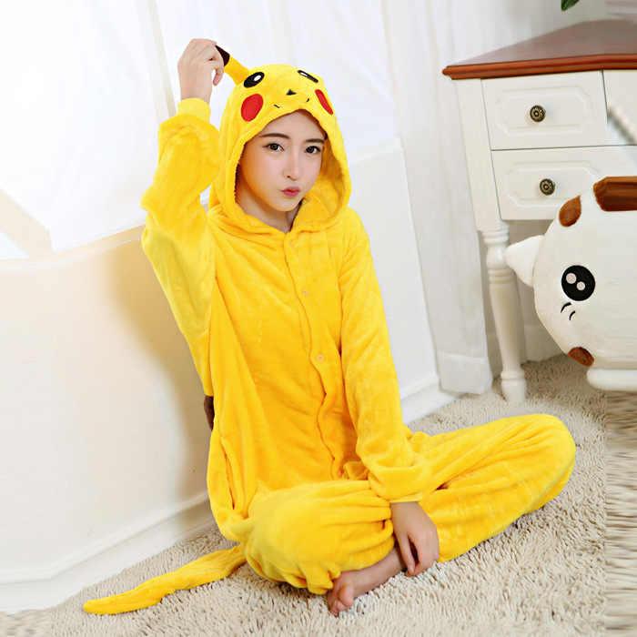 f4efb34e ... Kid's Adult Kugurumi Onesie Animal Costume Flannel Soft Whole Pajama  One Piece Boy Girl Child Pokemon