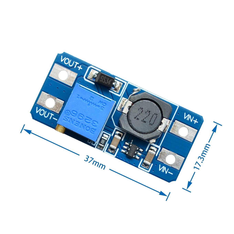 100PCS LOT MT3608 2A Max DC DC Step Up Power Module Booster Power Module