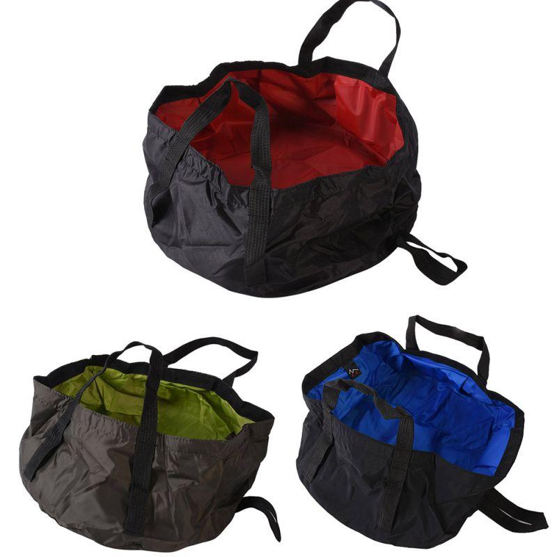 8.5L Outdoor Travel Folding Camping Washbasin Ultra-light Portable Basin Bucket Bowl Sink Washing Bag Hiking Water Bucket New