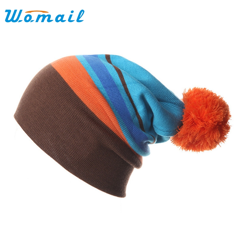 Womail Winter Warm Knitted Cap Beanies Slouch Skullies Bonnet Beanie Hat Gorro With top ball For Men Women 2017  Gift 1pc lady s skullies womail delicate pregnant mothers soft velvet cap maternal prevention wind hat w7