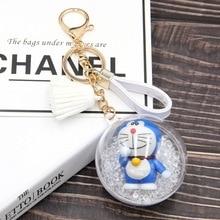 Cute Doraemon Keychain Transparent Ball Tassel Key Ring Gifts for Women Llavero Chaveros Charms Car Bag Accessories Key Chain источник бесперебойного питания ippon innova g2 2000 black