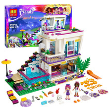 Bela Amigos 10498 Series Livi Andrea Pop Star House Building Blocks mini-muñeca de Juguete Compatible con Juguetes Amigos 41135
