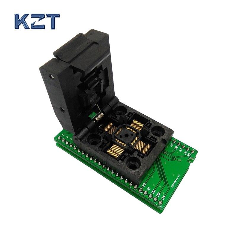 QFP48 TQFP48 LQFP48 to DIP48 MCU Programmer Pitch 0.5mm IC Body Size 7x7mm IC51-0484-806 Test Socket Adapter