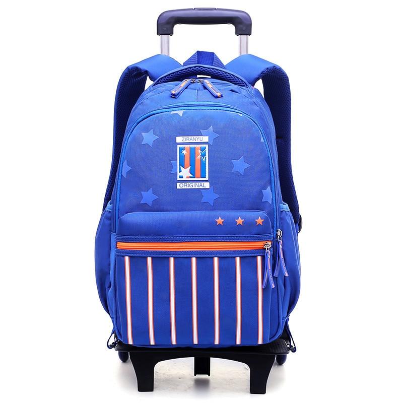Sac à roulettes sac d'école sac à dos d'école pour filles/garçons 2/6 roues Trolley sacs d'école enfant bagage à roulettes sac à dos