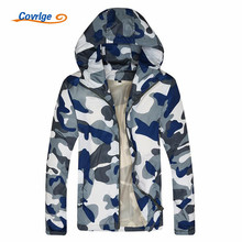 Covrlge 2017 New Male Jackets Fashion Hooded Camouflage Coat for Men Bomber Jacket Male Men's Windbreaker Softshell Coats MWJ058