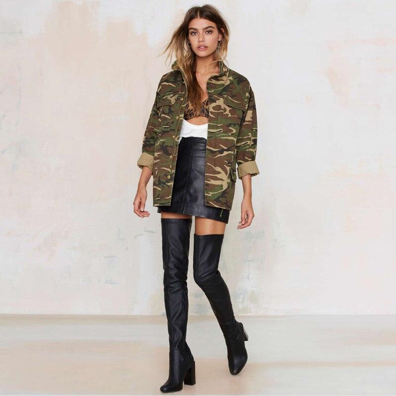 2017 autumn winter Camouflage army green bomber jacket women ...