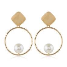 HOCOLE Vintage Real Natural Freshwater Pearl Earrings Women Irregular Drop Dangle DIY Wedding Party Jewelry Gift 2019