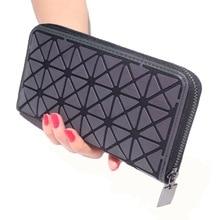 New Geometric Design Women Long Luminous Wallet