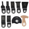 9 Pcs Set Oscillating Tool Saw Blades Accessories Fit For Multimaster Power Tools As Fein Dremel