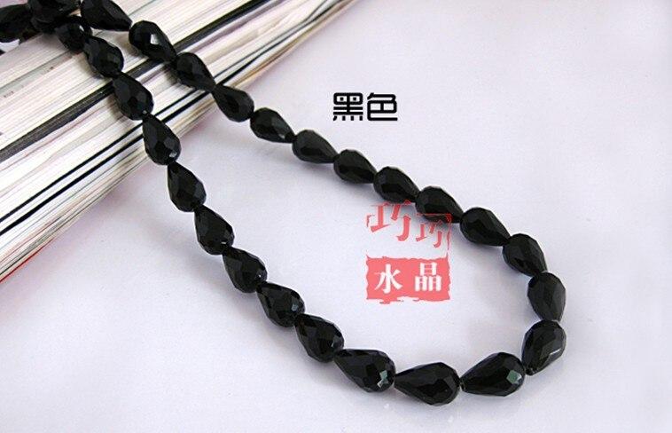 234e6a1a2607 60 unids lote 8 11mm agua gota cristal Cuentas cristal colgante negro  suelta DIY Cuentas para la fabricación de la joyería envío libre