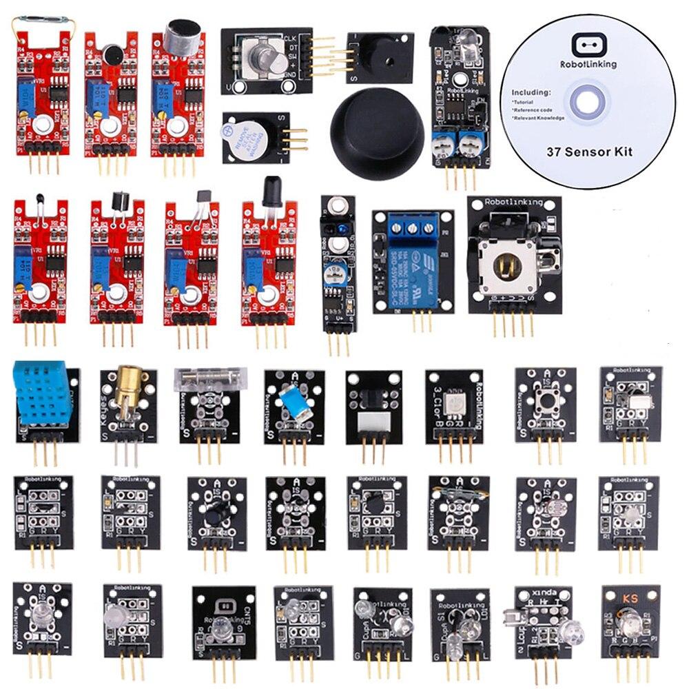 23 53 19 De Descuento Kit De Sensor De 37 En 1 Caja Variedad De Módulos Para Arduino Con Caja De Venta Al Por Menor In Circuitos Integrados From