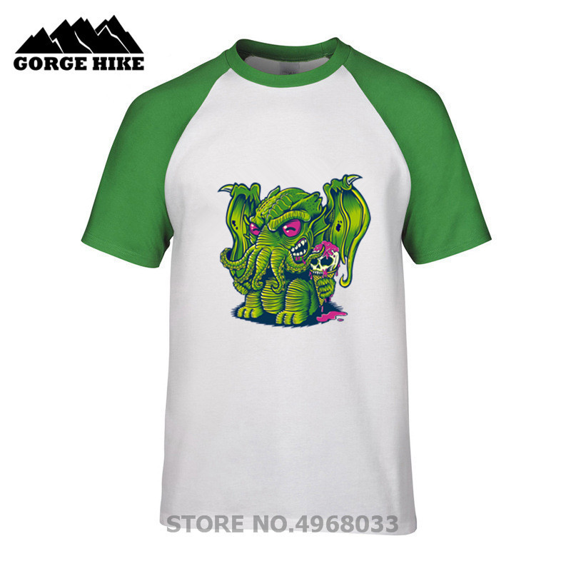 Anime streetwear Cthulhu, ice cream, skull, tentacle, monster Mystery Creative Design T-shirt 3D Print Movie T shirt Online Men