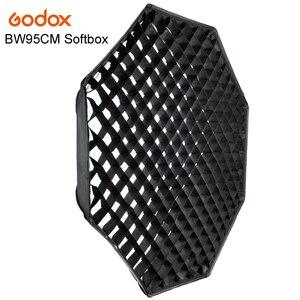 Софтбокс Godox FW95cm, восьмиугольный софтбокс с креплением в виде сот, из алюминиевого сплава, кольцо-адаптер для студийной съемки