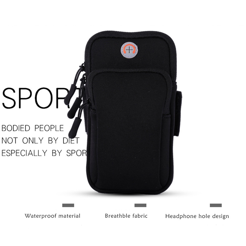 Sport Armband Running Flip Bag Case For Iphone Samsung Universal 5.5inch Smartphone Earphone Holes Keys Arm Bags Pouch Cellphones & Telecommunications Mobile Phone Accessories