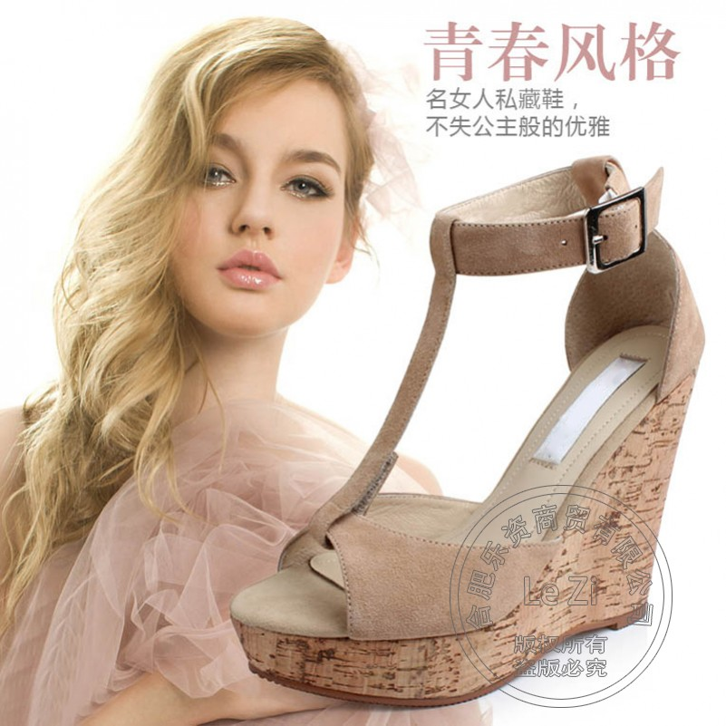 Plain Modern Simple Wedge Creepers Fashion Shoes font b Woman b font Pu Hasp Solid High