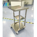 47*40*78cm 3 layers Medical Cart Trolley High Quality  Stainless Steel Spa Salon Trolly wheel with brake Customizable