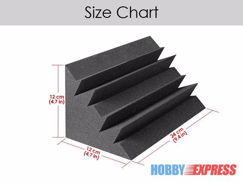Arrowzoom 36 piezas trampas de graves espuma acústica de absorción de sonido tratamiento 12x12x24 cm (4,7x4,7x9,4 pulgadas) KK1133-in Adhesivos para pared from Hogar y Mascotas    2