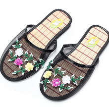 2019 Women Breathable Indoor Slippers Sequin Flower Home Flat Shoes Ladies Summer Hollow Out Mesh Beach Slippers Casual Sandals-in Slippers from Shoes on AliExpress