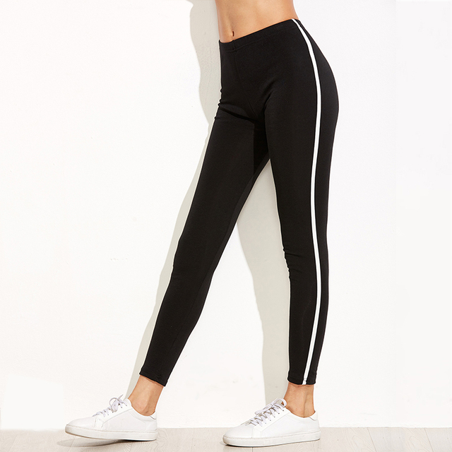 Casual Leggings Sport Leggings Fitness Breathable Black Jeggings Activewear Stretch Slim Pants Women Leggings Workout Trousers 4