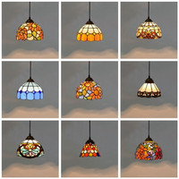 Colorful Mediterranean Style Moroccan Lamp Stained Glass Shade Mosaic LED Pendant Light for dining room bar lighting
