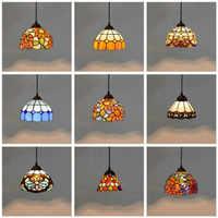 Colorido estilo mediterráneo lámpara marroquí pantalla mosaico LED luz colgante para comedor bar iluminación