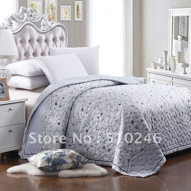 queen size flower printed quilted summer bedding set comforter duvet/quilt