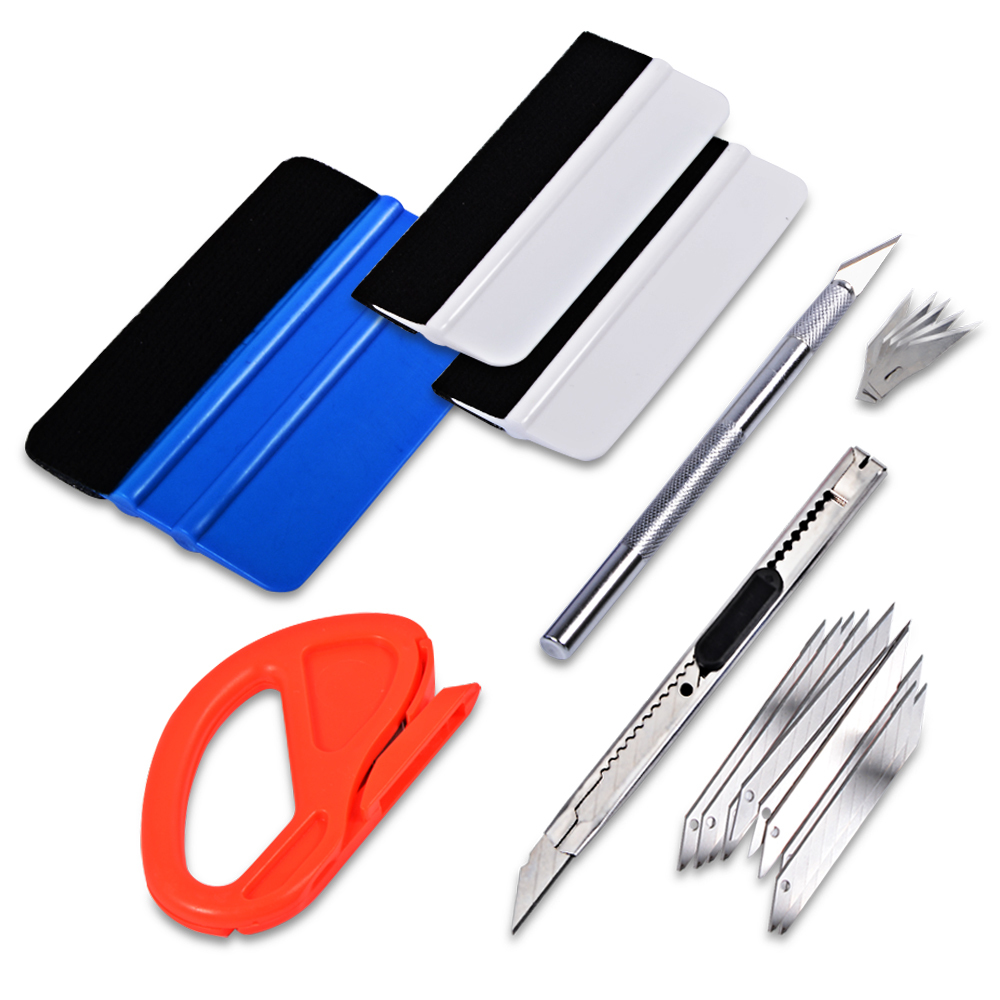 EHDIS Auto Car Styling Tool Kit Car Stickers Install Tool Set for Color Change Film Snitty Cutter Knife Squeege Window Tint Tool auto rain shield window visor car window deflector sun visor covers stickers fit for toyota noah voxy 2014 pc 4pcs set