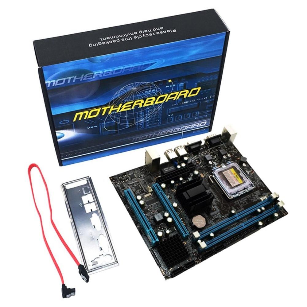 все цены на G31 Computer Motherboard Dual-Core 771 Mainboard LGA 775 Motherboard 771/775 Dual Board DDR2 VGA High Compatibility онлайн