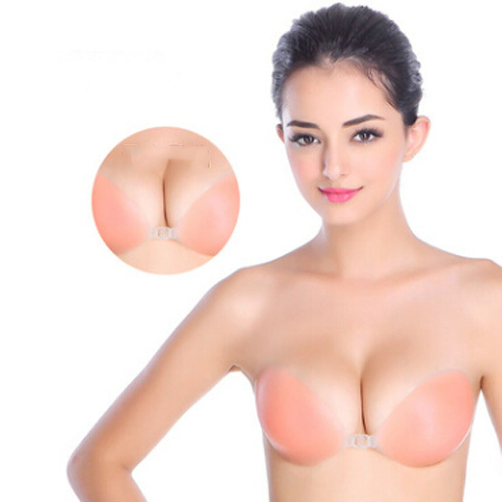 Sexy Strapless Backless Invisible Adhesive Silicone Gel Bra Breast Pad Cup A-D