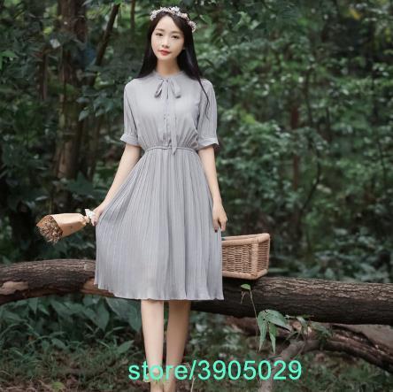 Autumn Mori Girl Women Dress Korean Style Lolita Long A Line Ladies Dresses School Work Femme Vestidos Z518