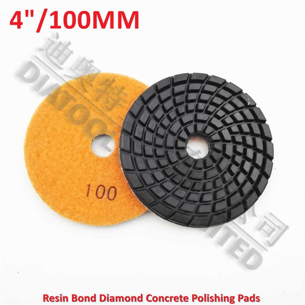Diatool 9 шт. 4 дюйма Грит #100 diamond смолы облигаций бетона полировки пола возобновить колодки бетон пол возобновить подготовки диск