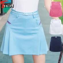 Женская плиссированная юбка для гольфа короткая спортивная одежда