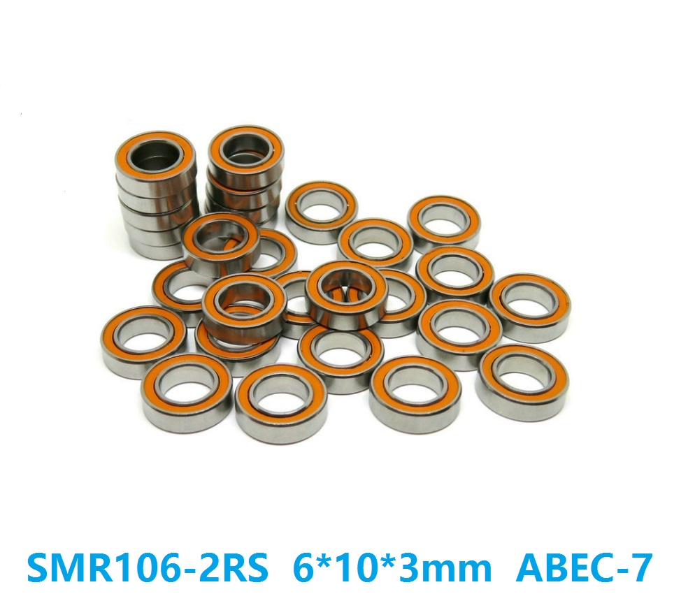 6pcs or 10pcs SMR106-2RS SMR106RS 6x10x3 mm ABEC7 Stainless Steel hybrid Si3n4 ceramic bearing for fishing reel bearings 6*10*3 stainless ceramic bearing sc6901 2rs 12 24 6 mm for mavic novatec wheel hubs