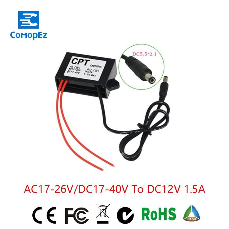 Grid Tie Inverter Solar Inverter Ac To For Dc Converter Step-down Ac24v/dc24v Dc12v1.5a Waterproof Control Inverter Car Module