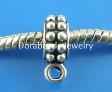 DoreenBeads 50PCs Antique Silver Spacers Bail Beads. Fit European Charm 13x8mm (B03344), yiwu