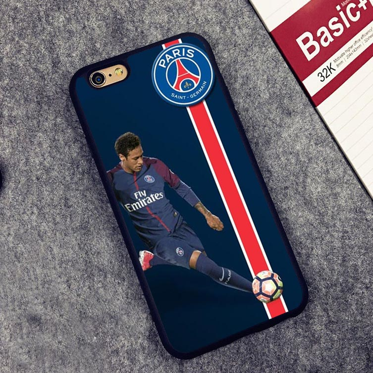Neymar JR PSG Coque football soccer Print Back Soft Silicone Protective case Cover For iPhone X 8 7 7Plus 6 6S Plus 5 5S SE