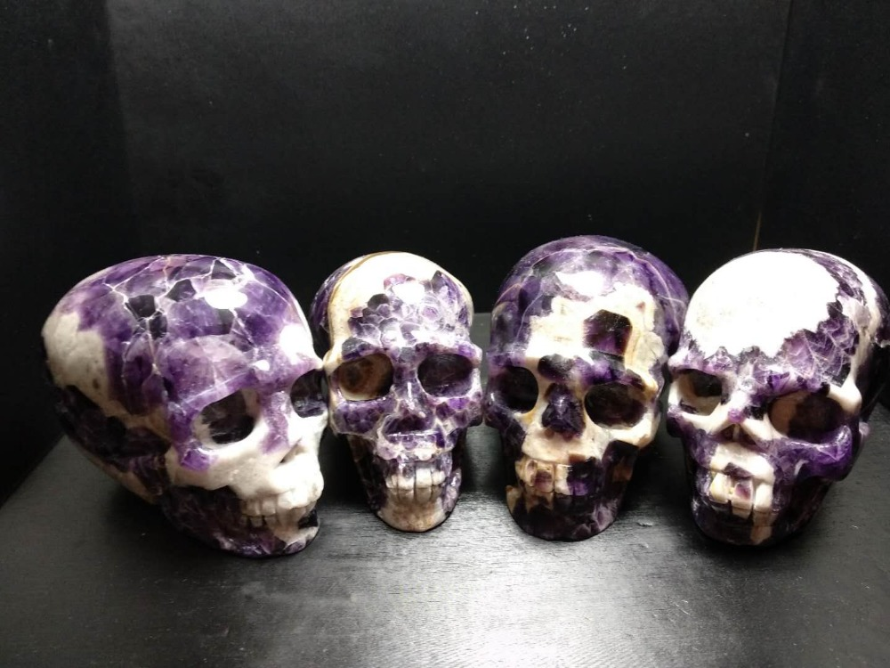 1pc Natural Banded Chevron Dream amethyst  quartz crystal skull healing1pc Natural Banded Chevron Dream amethyst  quartz crystal skull healing
