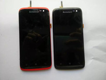 Red Black White For Lenovoe S820 LCD Display + Touch Screen Original Digitizer Assembly With Frame (in stock)