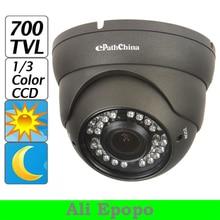 700TVL 1/3″ Sony CCD 2MP HD Varifocal Zoom Dome CCTV Camera, IR Night Vision Video with OSD Menu, Free Shipping