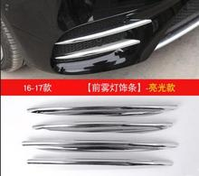 ABS Plastic Carbon Fiber Color Front Fog Lamp Cover Trim For Mercedes Benz E Class W213 2016 2017 E43 AMG Auto Part Newest стоимость