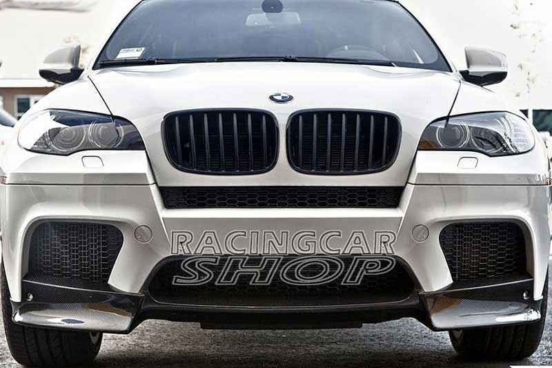 Ak Style Real Carbon Fiber Front Lip Spoiler Splitter For Bmw E70
