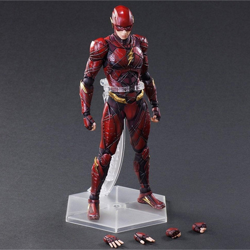 Haocaitoy PA Figures 1/6 Scale The Flash JL Comics Painted Figure Model Ver.PVC Action Figures Collectible Model Toys 23c image