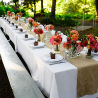 BITFLY 10m Wedding Ribbon Roll Vintage Burlap Table Runners For Country Wedding Party Banquet Table Decor