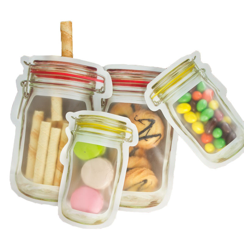 Reusable Mason Bags as Kitchen Accessories with zipper for Storing Nuts and Candy 13