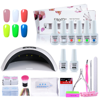 Elite99 Gel Nail Polish Manicure Sets 8ml Nail Gel Polish Base Top Coat With UV LED Lamp Dryer Machine Tools Nail Art Kit Set