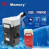 Mini USB Fridge Cooler de Bebidas Latas de Bebidas Refrigerador Geladeira/Aquecedor para Laptop/PC usb gadget