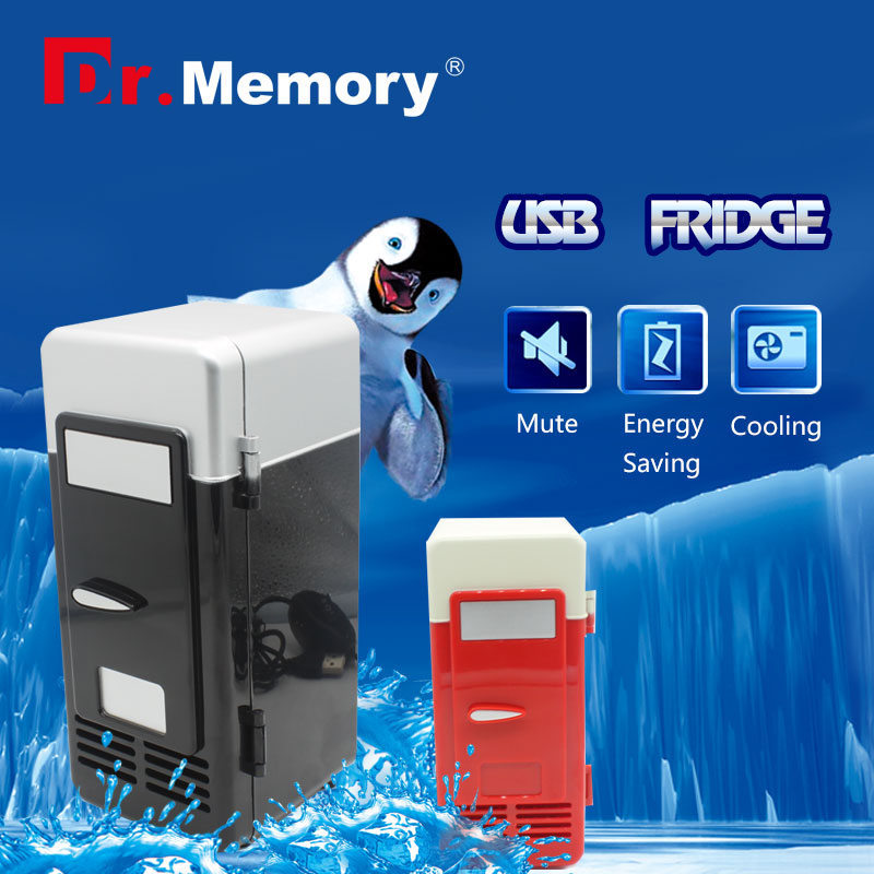 Mini USB Fridge Cooler Beverage Drink Cans Cooler Warmer Refrigerator for Laptop PC usb font b