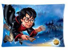 Rectángulo Cremallera Clásico Agradable Mejor Personalizado Funda de Almohada Funda de Almohada de Dos caras de Harry Potter de Dibujos Animados Funda de Almohada # P0081