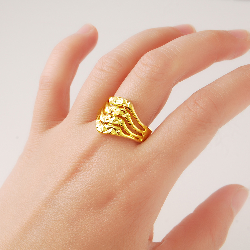 2015 Romantic Rings Special Design 24k Gold Colou Rings Party Ring
